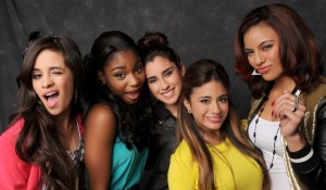 Lauren (centre) with Fifth Harmony