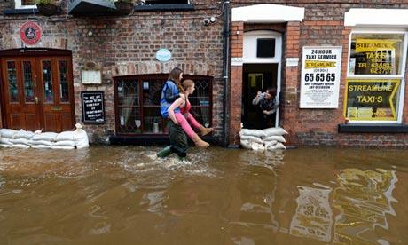 Festive Flooding in York, UK.Image Source:  www.guardian.co.uk