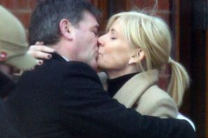 © Eamonn and James Clarke.Stella and Karl kiss