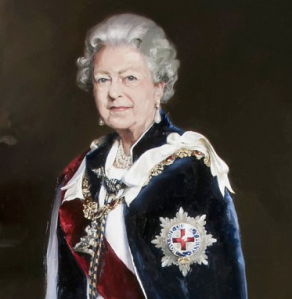 Queen Elizabeth II by Nicky Phillips