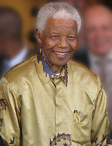 Nelson Mandela celebrating his 90th Earthday