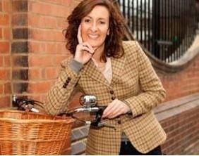 Nanny on a bike!  I prefer a Supernanny in a taxi.
