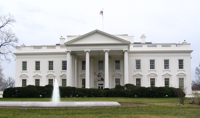 "The White House looking fresh and ""white"""