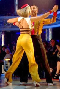 Rachel Riley with professional dancer Pasha Kovalev