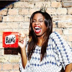 Miss London Hughes, presenter of Scrambled, CITV