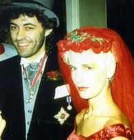 Scarlet Bride, Paula with Bob on their wedding day, 1986
