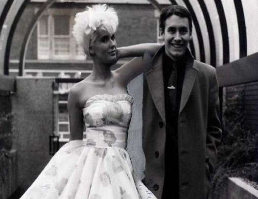 Paula with fellow Tube presenter, Jools Holland in the 80s