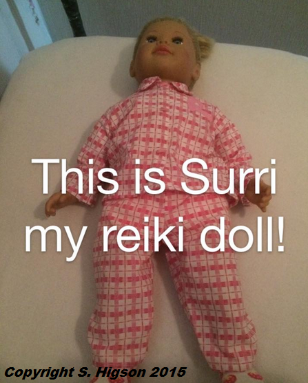 Surri, the doll used by Reiki Shaze to perform Distant Healing