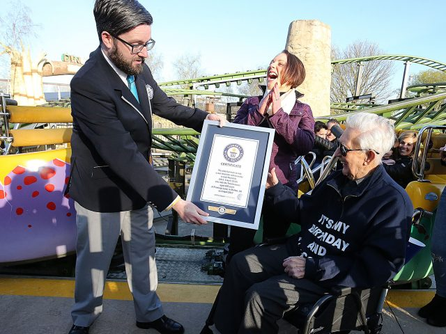 105 Year Old 'Super Grandad' Achieves Rollercoaster World Record